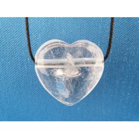 Bergkristal hart hanger