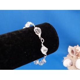 Bergkristal schakel armband