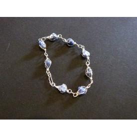 Sodaliet schakel armband
