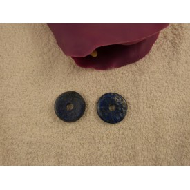 Lapis Lazuli donut, 35 mm