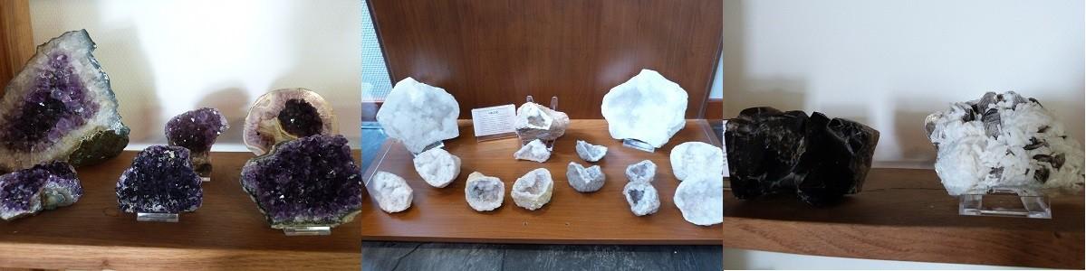 Amethist en bergkristal